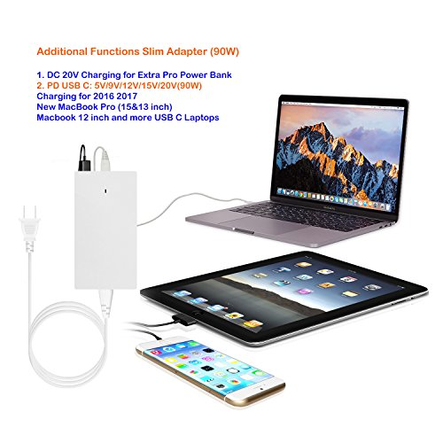 Lizone Extra Pro 50000mAh PD USB C External Battery Power Bank Portable Charger for 2016 2017 Macbook Pro HP Spectre Lenovo Yoga Asus LG Dell Razer Blade Stealth Acer PD USB-C Laptop Tablet Smartphone by Lizone (Image #5)
