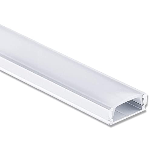 LED Profil Aluminium 2 Meter - Aluprofil für LED Stripes/Streifen Abmessung: 2000mm x 17mm x 7mm ALU Leiste (Alu Profil silbe