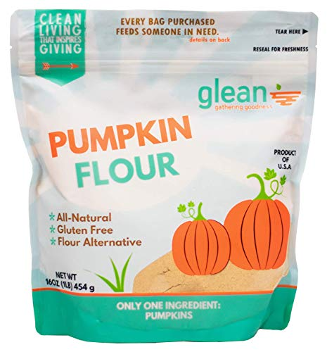 Glean Pumpkin Goodness | Gluten Free Pumpkin Flour and Powder | Paleo, Vegan, Low Sugar | Great for baking breads, pumpkin muffins, and cookies | 16 oz. (1 lb) (Best Healthy Flour For Baking)