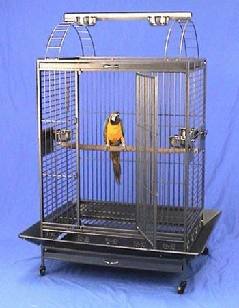 4 Size, Castle PlayTop Parrot Cage For Large Macaws Cockatoos African Grey Amazon (40