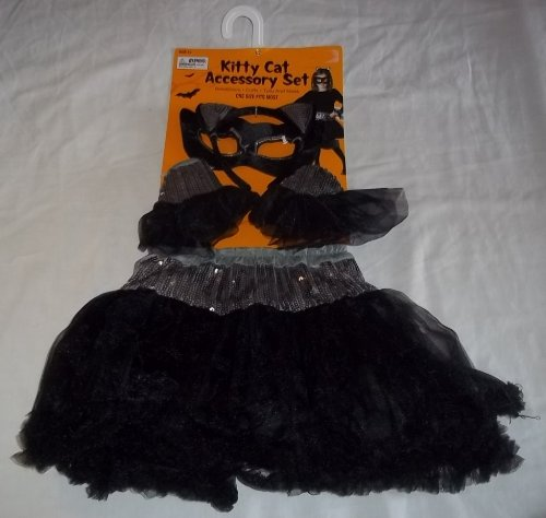 (Kitty Cat Halloween Accessory Set Black One Size Fits)