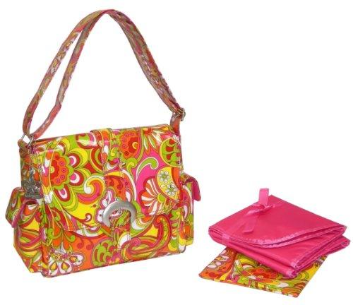 """Kalencom - bolsa para pañales, piezas bolsa de pañales, baberos, bolsa bolso de la madre, la bolsa con cinta recubierta, razón """"Pétalos"""" Ooh La La Sunny"""
