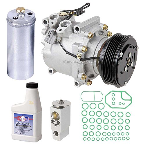 AC Compressor w/A/C Repair Kit For Honda Civic 1.7L 2001 2002 w/ 1-Wire Electrical Connector - BuyAutoParts 60-80121RK New