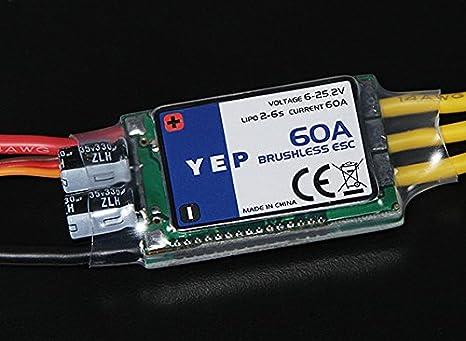 Amazon com: HobbyKing YEP 60A (2~6S) SBEC Brushless Speed