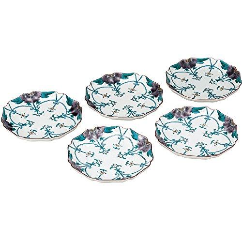 kutani-ceramics-kutani-porcelain-plate-5-piece-set-overglaze-necklaces-hand-ak4-0176