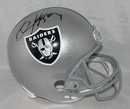 Bo Jackson Autographed Oakland Raiders Full Size Helmet- Beckett Authenticated