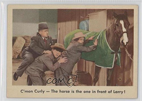 C'mon Curly - The horse is the one in front of Larry! (Trading Card) 1959 Fleer The 3 Stooges - [Base] #13