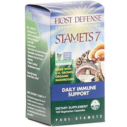 Host Defense - Stamets 7 Capsules, Multi Mushroom Support for Immune Response, 120 Count (FFP)