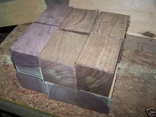 Beautiful Walnut (lot of 12 Solid Walnut Bottle Stopper Blanks Lath Wood Blocks Lumber measure approximately 3 X 3 X 4