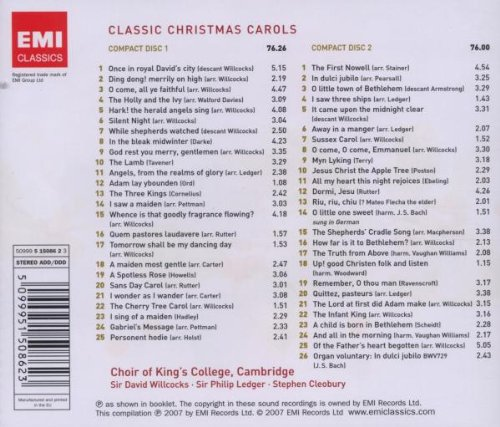 david willcocks philip ledger stephen cleobury kings college choir classic christmas carols 50 favourite carols amazoncom music - Classic Christmas Songs List