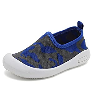 CIOR Kids Slip-on Casual Mesh Sneakers Aqua Water Breathable Shoes For Running Pool Beach (Toddler / Little Kid) SC1599 Blue 16