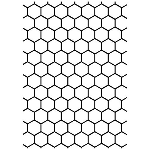Darice Embossing Folder, 5 by 7-Inch, Honeycomb Darice (DARIE) 1218-94