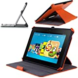 i-Blason Slim-Fit Cover Case for Kindle Fire HDX 8.9 Inch Tablet (Not Compatible with Kindle Fire HD 8.9 2012 Release)--Lifetime Warranty (Orange)