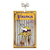Team Sports America Minnesota Vikings Corrugated Metal Ornament, Set of 4
