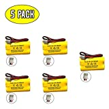 2.4v 400mah BST Battery Replacement Exit Sign Emergency Light Exitronix 10010036 Lithonia 10010034 Interstate NIC1394 BEL-179 2.4v 400mah 2.4v 800mah (5 Pack)