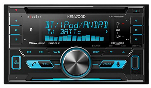 Kenwood DPX592BT Double-DIN In-Dash Car Stereo with High Resolution Audio Compatibility/iHeartRadio/ (Kenwood Indash Cd Player)