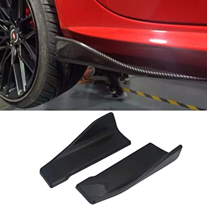 Racing Canards Winglet Type Lip Splitter Apron Under Front Bumper