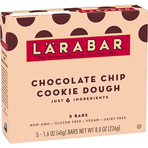 Larabar Gluten Free Bar, Chocolate Chip Cookie Dough, 1.6 oz Bars (5 Count), Whole Food Gluten Free Bars, Dairy Free Snacks