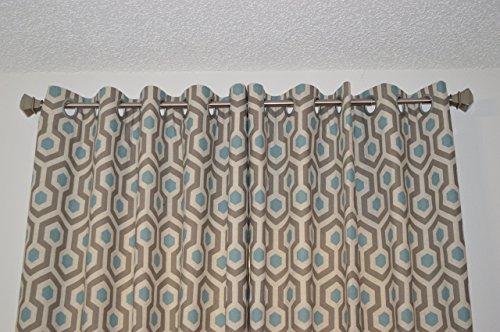 Magna Print - Honeycomb Design Grommet Top Curtain Panels - Premier Prints Magna Cadet
