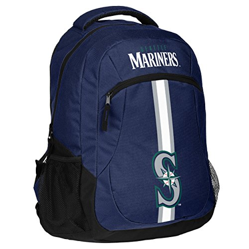 MLB Seattle Marinersaction Backpack, Seattle Mariners, One (Seattle Mariners Bag)