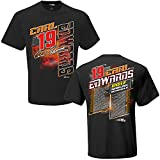 NASCAR 2017 Drivers Schedule Racing T-Shirt (#19 Carl Edwards, Large)