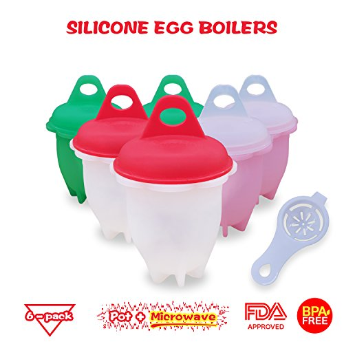 Food-Grade Non Stick Silicone Egg Cooker | BPA Free Egg Boiler | Egg Poacher Without Shell | High Temperature Resistant Egg Boil Cup For All Pots & (Microwave Boiler)