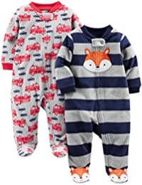 Boys' 2-Pack Fleece Footed Sleep and Play