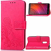 For Xiaomi Redmi Note 4 Cover Protective Case PU Leather Flip Wallet Cases Stand Smart Phone shell Support Magnetic Buckle Luxury Elegant Embossing Skins Covers Rose
