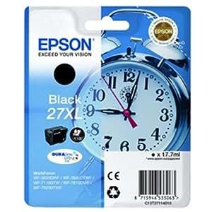 Epson C13T27114010 - Cartucho de tinta para impresoras  27XL DURABrite Ultra, 17.7 ml, color negro