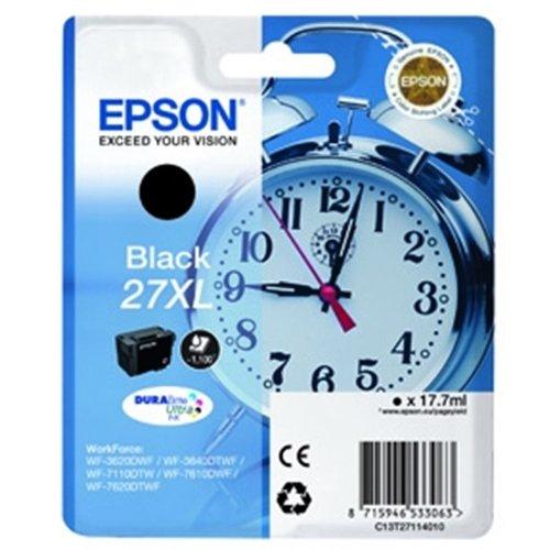 Epson T2711 Tinte, Wecker, wisch- und wasserfeste XL (Singlepack) schwarz