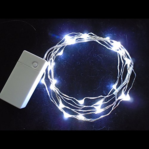 Sharpet Rechargeable Battery Operated LED String Lights. (5.9 feet, Pure White)