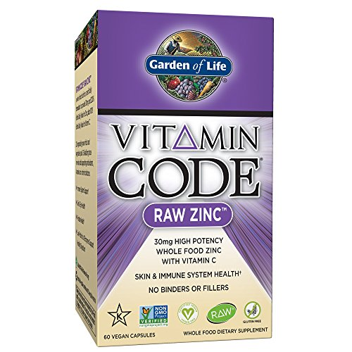Garden of Life Zinc Vitamin - Vitamin Code Raw Zinc Whole Food Supplement with Vitamin C, Vegan, 60 Capsules - Nutrients Eye Formula 90 Tabs