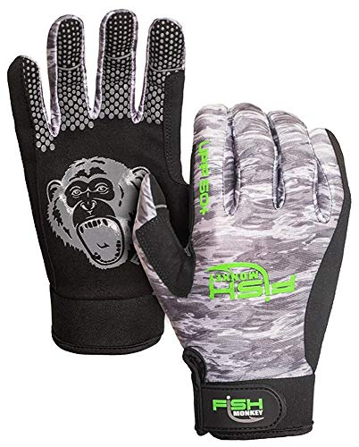 Fish Monkey Free Style Custom Fit Glove (Grey Water Camo, Large)