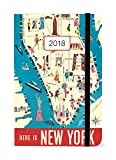 vintage nyc map - Cavallini Papers & Co., Inc. New York Weekly Planner Cavallini 2018