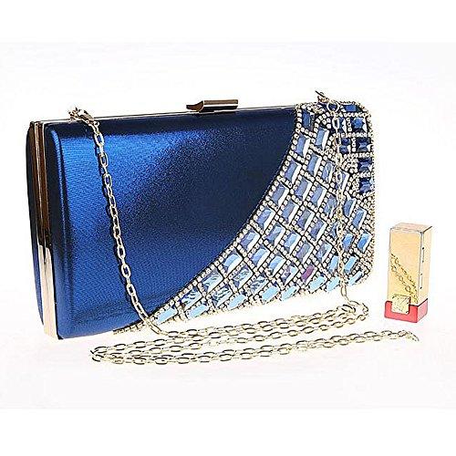 femme clutch Pochette evening pour color UNYU Bleu Multi gIqz5H5w