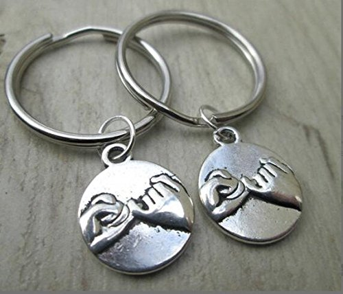 ON SALE Set Of 2 Pinky Promise Keychains, Pinky Swear Keychain, Keychain, Best friends, Pinky Promise Key Chains