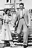 #7: Roman Holiday 24X36 Poster Gregory Peck hand in hand with Audrey Hepburn on Spanish Steps