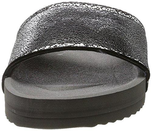 flip*flop Pool Metallic Cracked - Sandalias con Cuña Mujer Schwarz (Steel)