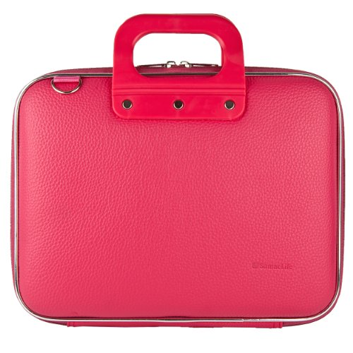 Sumaclife PU Leather Semi Hard Shell Briefcase Shoulder Bag College Satchel (Pink) for Acer Iconia One 10 / Tab 10 / Switch One 10 / Aspire Switch Series 10.1