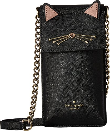 Kate Spade New York Women's Cat North South Phone Cross Body Case, Black, One - Cat Black Kate Spade