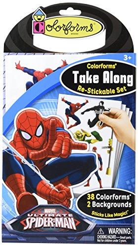 Colorforms Brand Spider Man Take Along Restickable Set