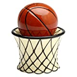 Basketball and Goal Salt & Pepper Shaker Set 3-inches tall