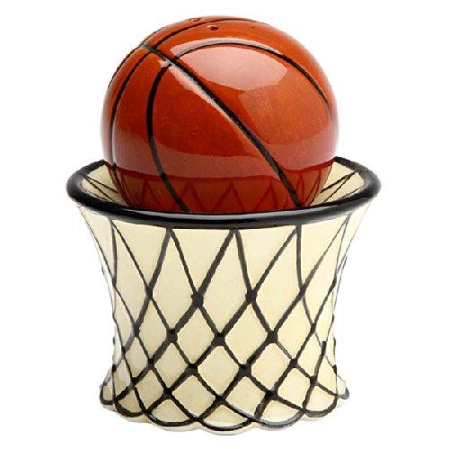 Basketball and Goal Salt & Pepper Shaker Set 3-inches tall
