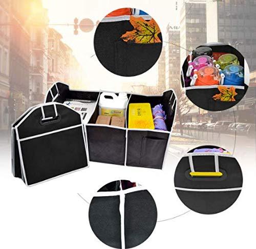 WESEEDOO Kofferraum-Organizer-Tasche Schwerlast Stiefel-Taschen Auto Faltbare Lagerung Einkaufstasche ordentlich schwarz