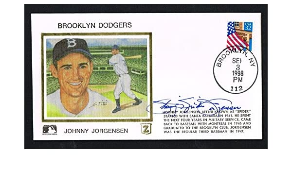 659a8f67b Johnny Spider Jorgensen (d. 2003) signed autograph auto Postal Cover  Baseball at Amazon's Sports Collectibles Store