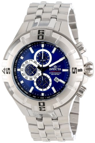 Invicta Mens Reef Pro Diver XXL Chronograph Blue Dial Stainless Steel Bracelet Watch 12350