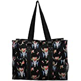 NGIL All Purpose Organizer 18'' Large Utility Tote Bag 2018 Spring Collection (Bull Skull Black)