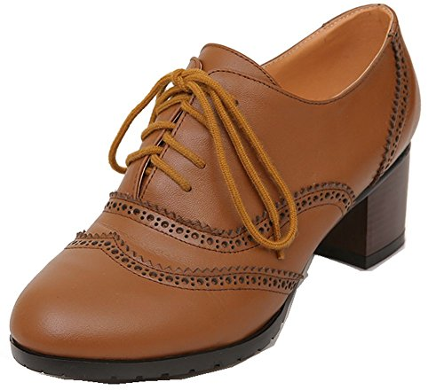 YiLianFang new 2014 genuine leather womens Lace up Oxfords pump Shoes