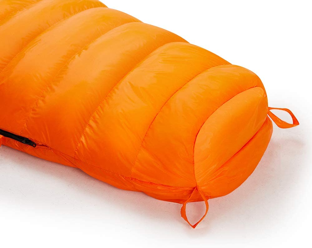 10/°C 650 Fill Power Down Mummy Sleeping Bag Ultra Lightweight 3 Season Backpacking Sleeping Bag with Compression Sack Easthills Outdoors Bison