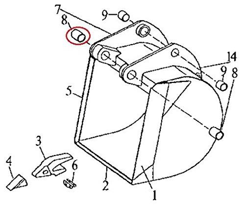 T105987 New Bushing For John Deere Backhoe Wheel Loader Bushing 310C 410C 510C +